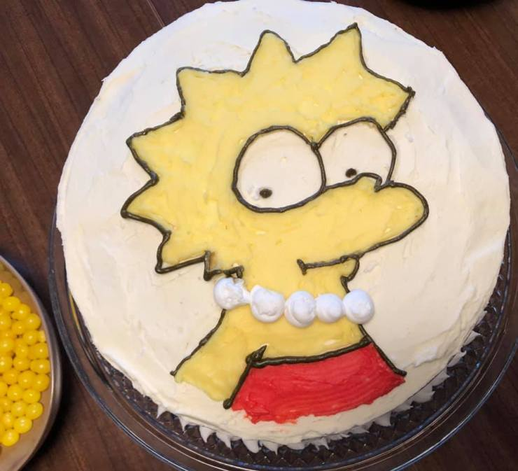 imperfection-lisa simpson cake